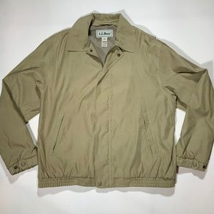 Tan LL Bean Casual Jacket EUC Mens Reg Large